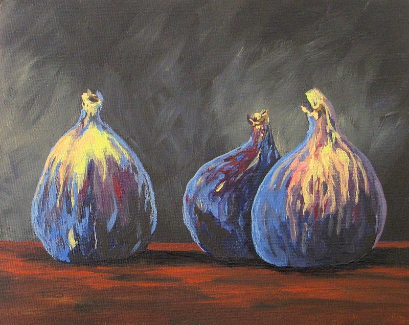"""Three Figs"" original fine art by Torrie Smiley"