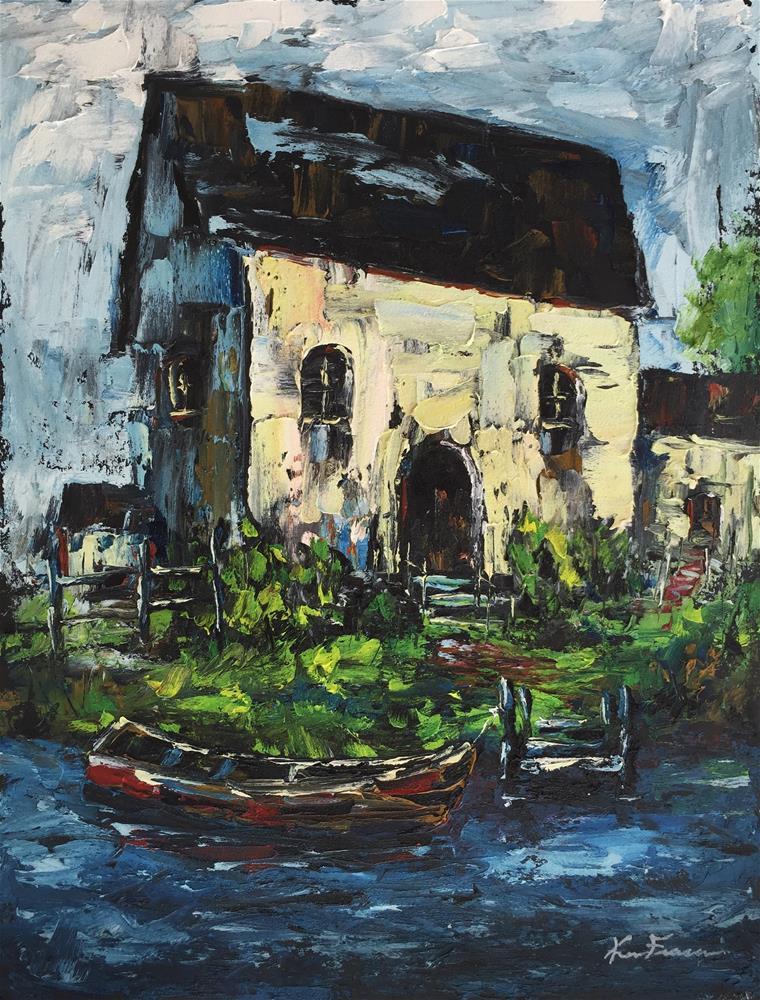 """""""Country Cottage"""" original fine art by Ken Fraser"""