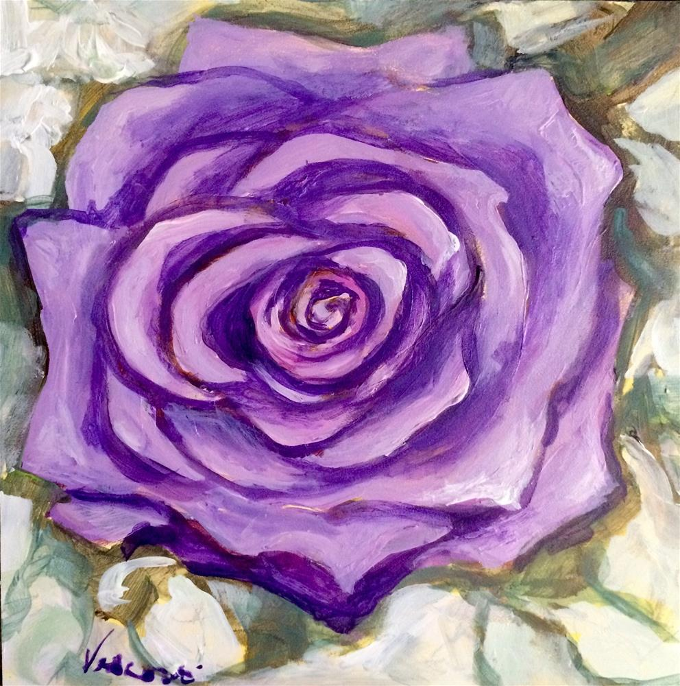 """Rose 2"" original fine art by Valerie Vescovi"