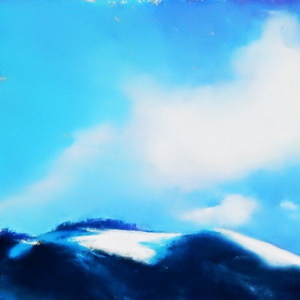"""Mt. Ascension, Winter"" original fine art by Carolyn Caldwell"