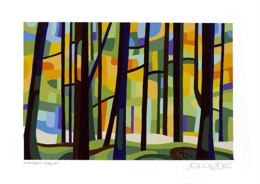 """Landscape Study #5"" original fine art by Mandy Budan"