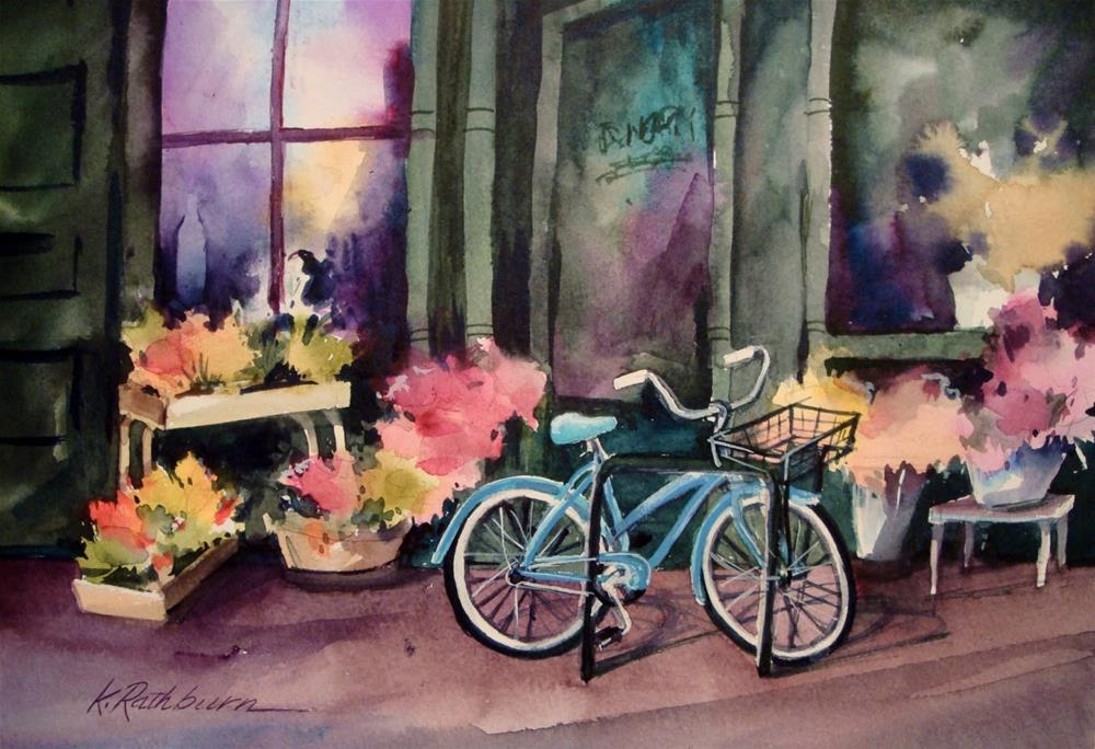 """Stopping By to Get More Flowers"" original fine art by Kathy Los-Rathburn"