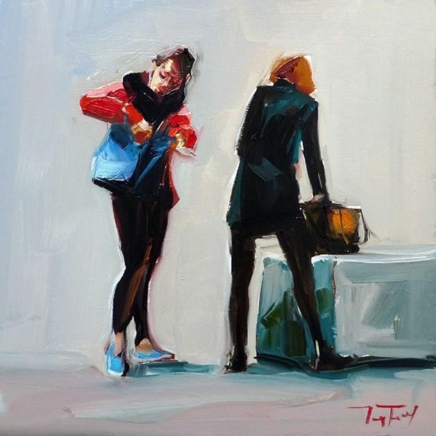 """""""Die Suchende"""" original fine art by Jurij Frey"""