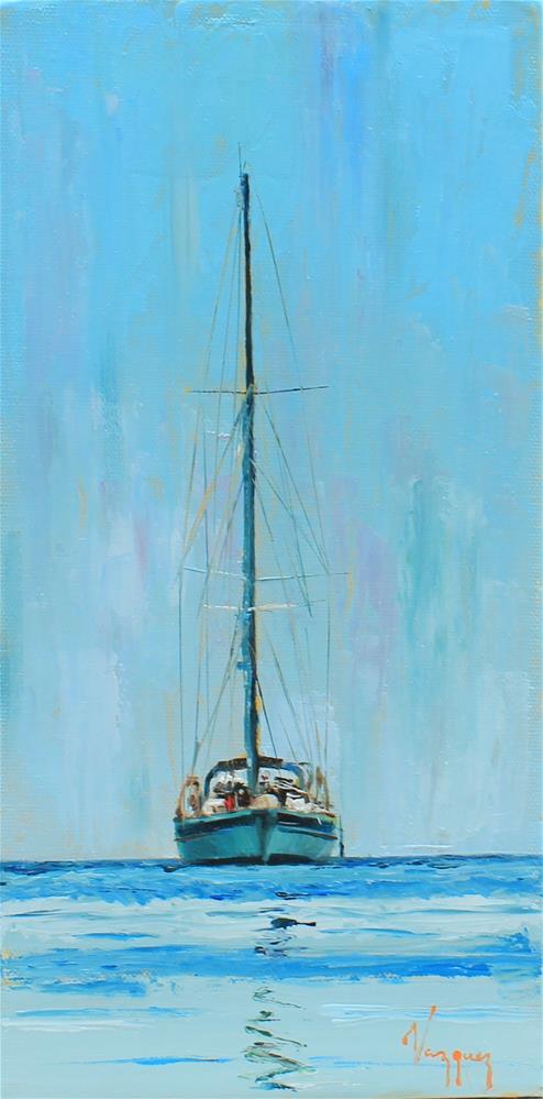 """""""Composition in blue"""" original fine art by Marco Vazquez"""