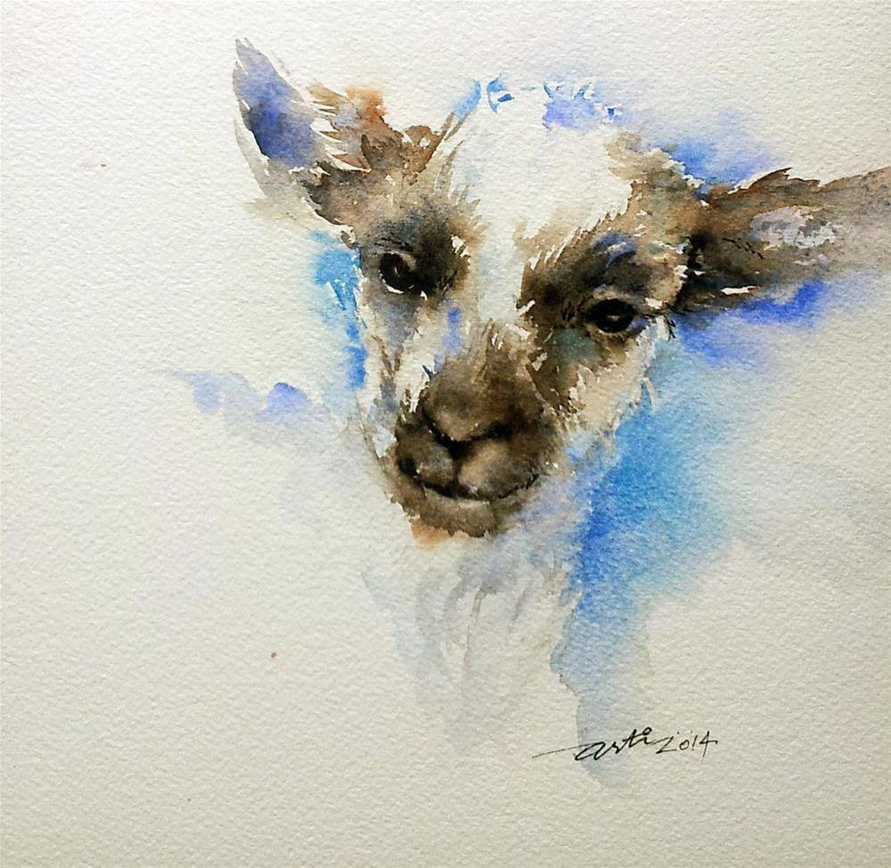 """Lamb in Black and White"" original fine art by Arti Chauhan"
