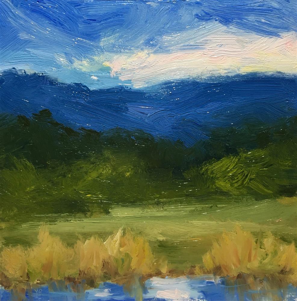 """""""Finley Wetlands """" original fine art by Victoria  Biedron"""