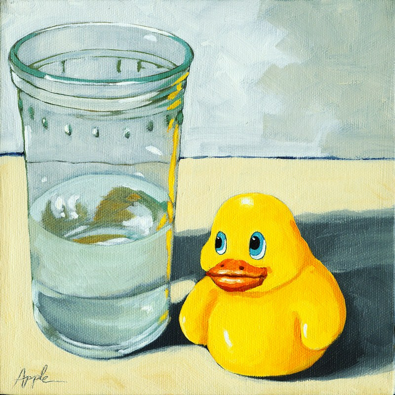 """Duck Out of Water"" original fine art by Linda Apple"