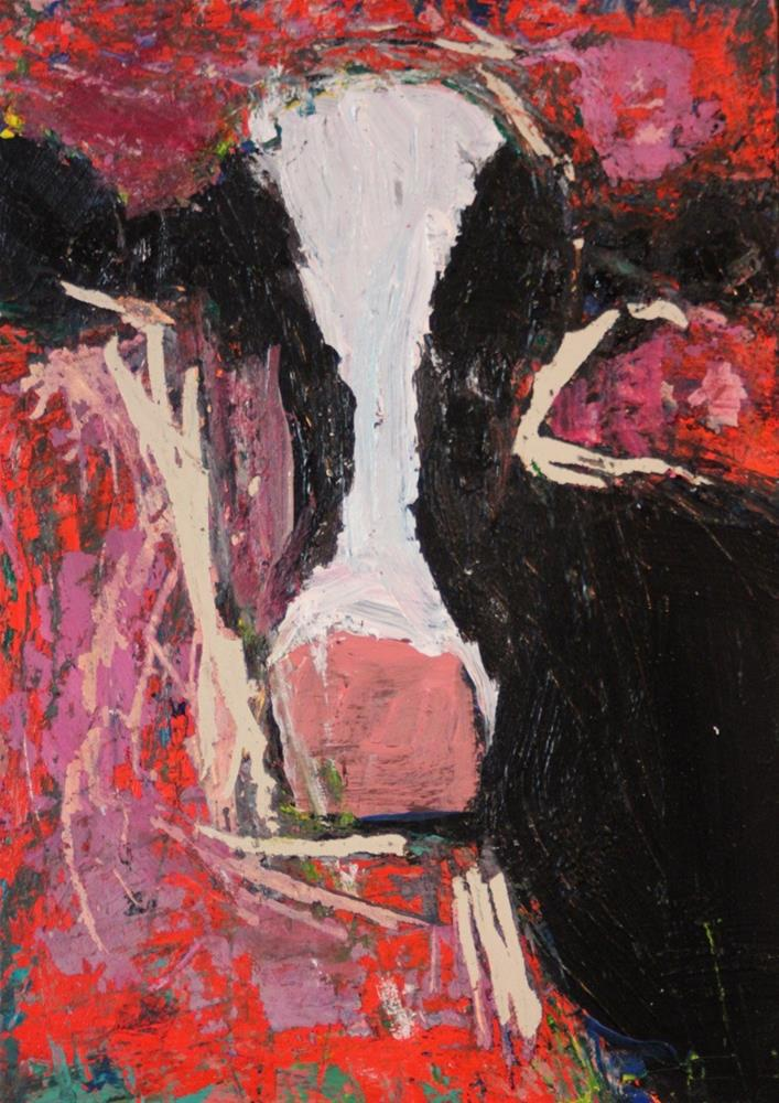 """Cow"" original fine art by Christine Parker"