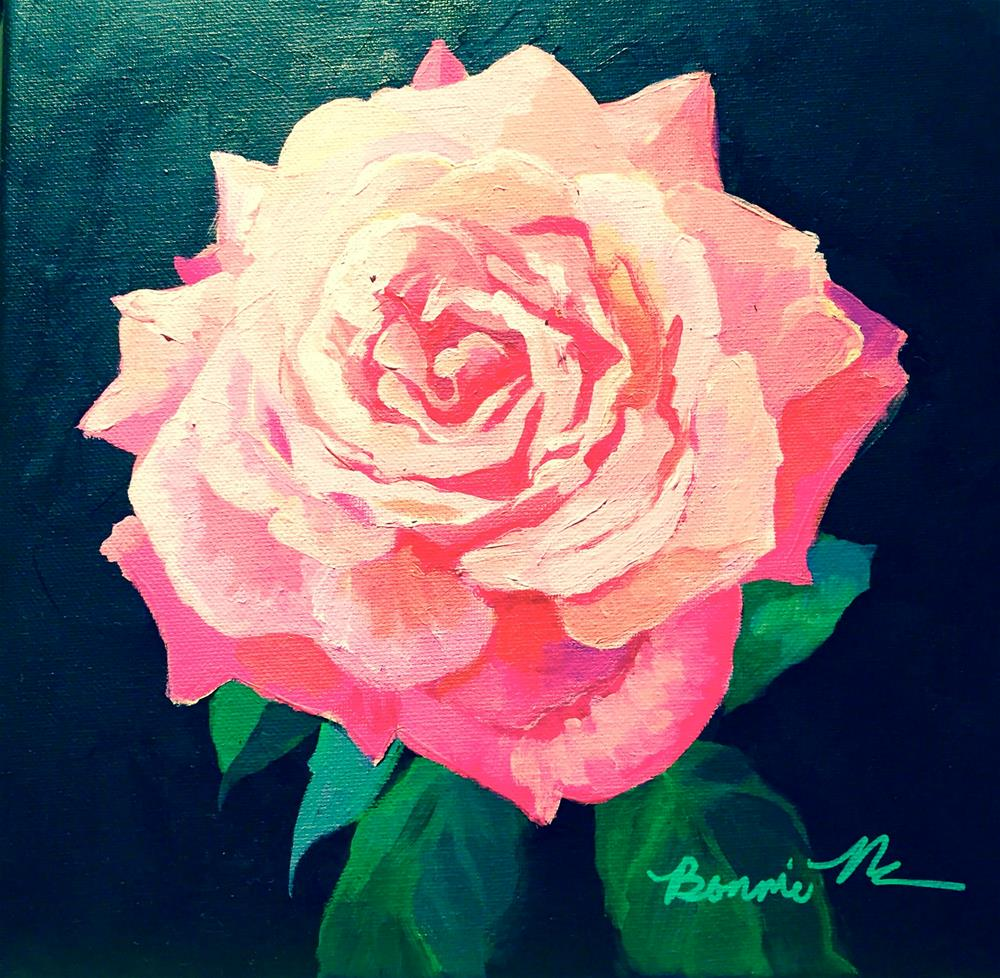 """Faded Pink Rose"" original fine art by Bonnie Masdeu"