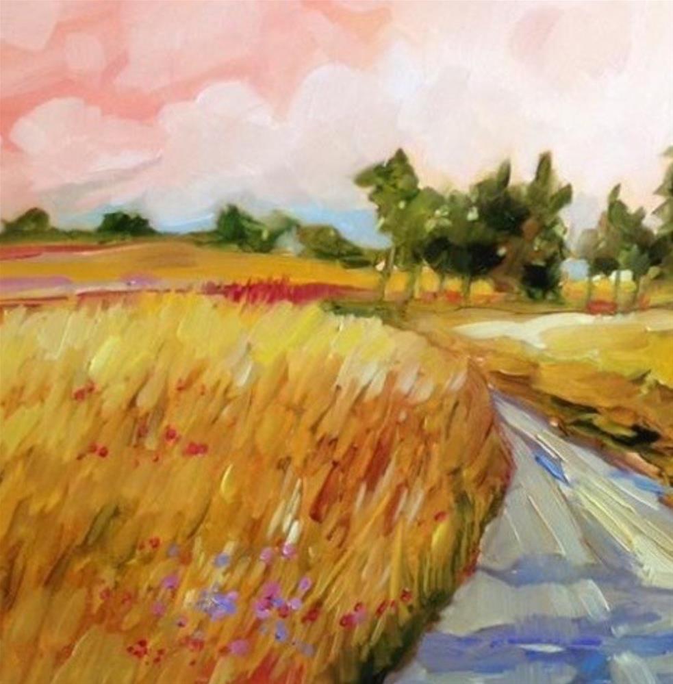"""Harvest Morning"" original fine art by Libby Anderson"