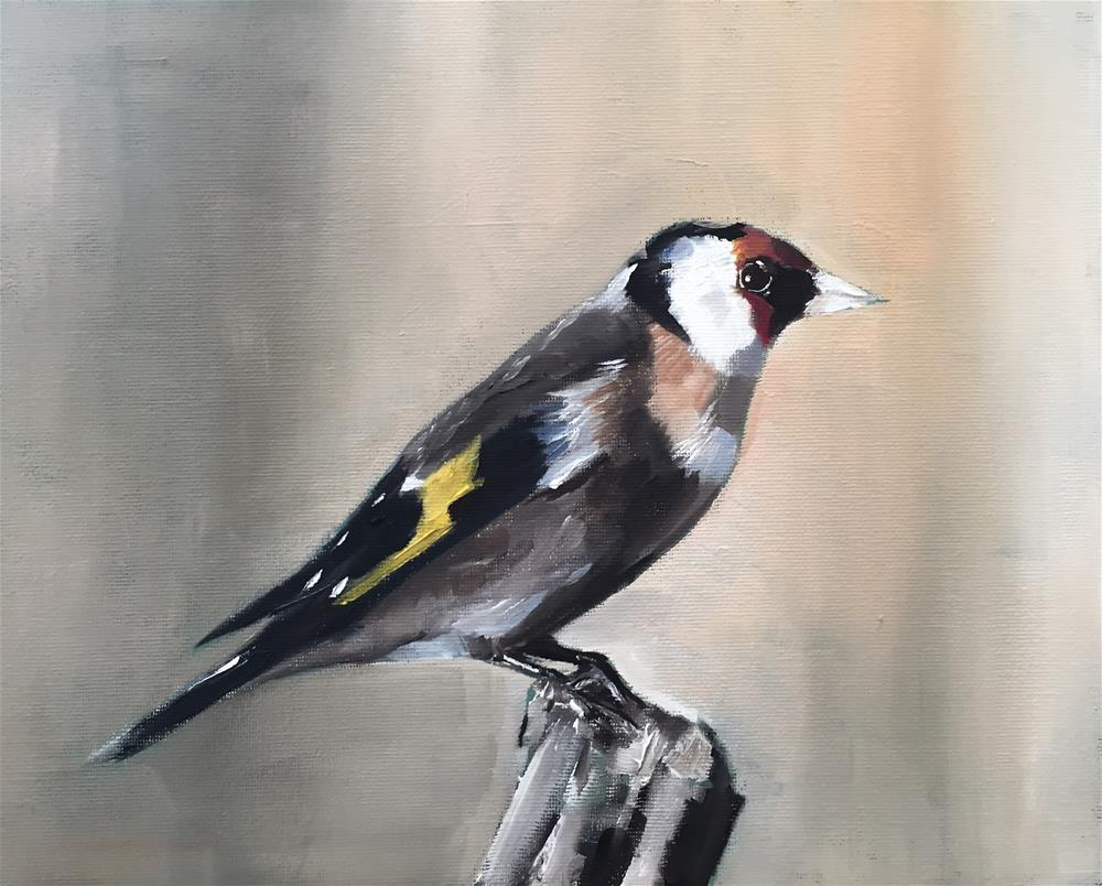 """Goldfinch"" original fine art by James Coates"