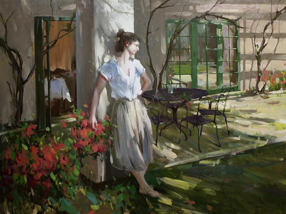 """""""Backyard 2"""" original fine art by Fongwei Liu"""