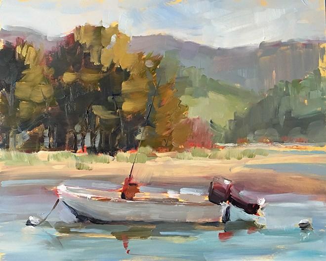 """Anchored"" original fine art by Deborah Newman"