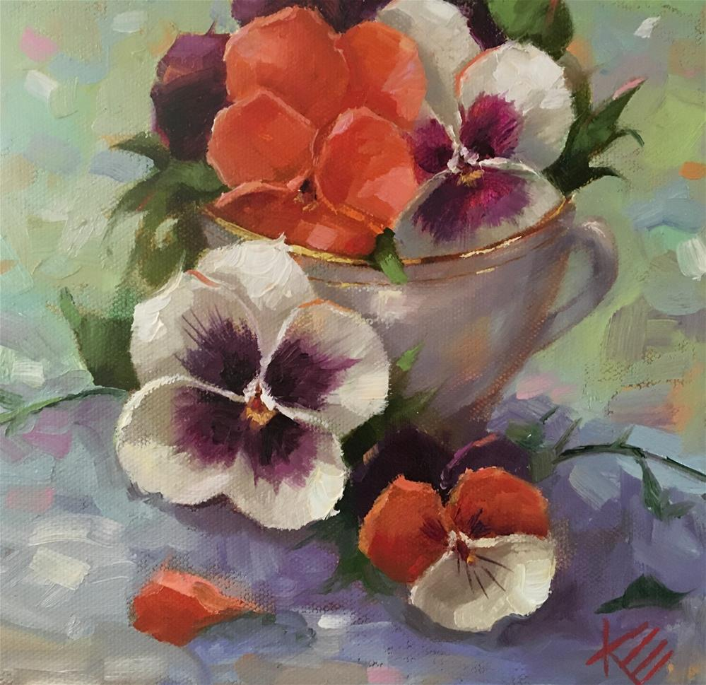 """Cup half full"" original fine art by Krista Eaton"