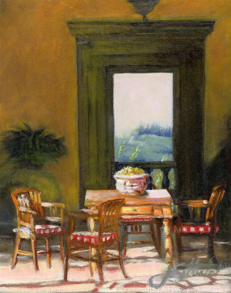 """""""Villa Poggioli"""" original fine art by Janet Setterland"""