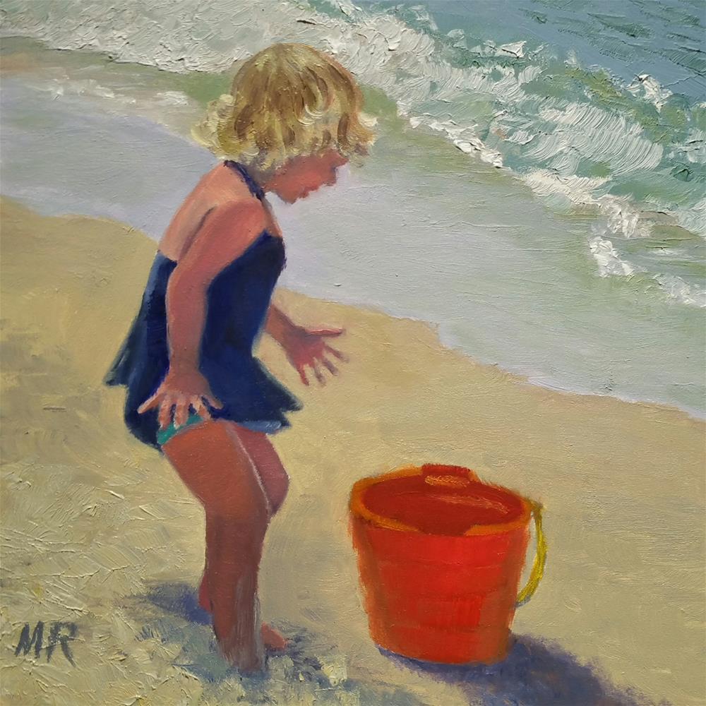 """""""Hello Fishy!"""" original fine art by Michelle Rideout"""