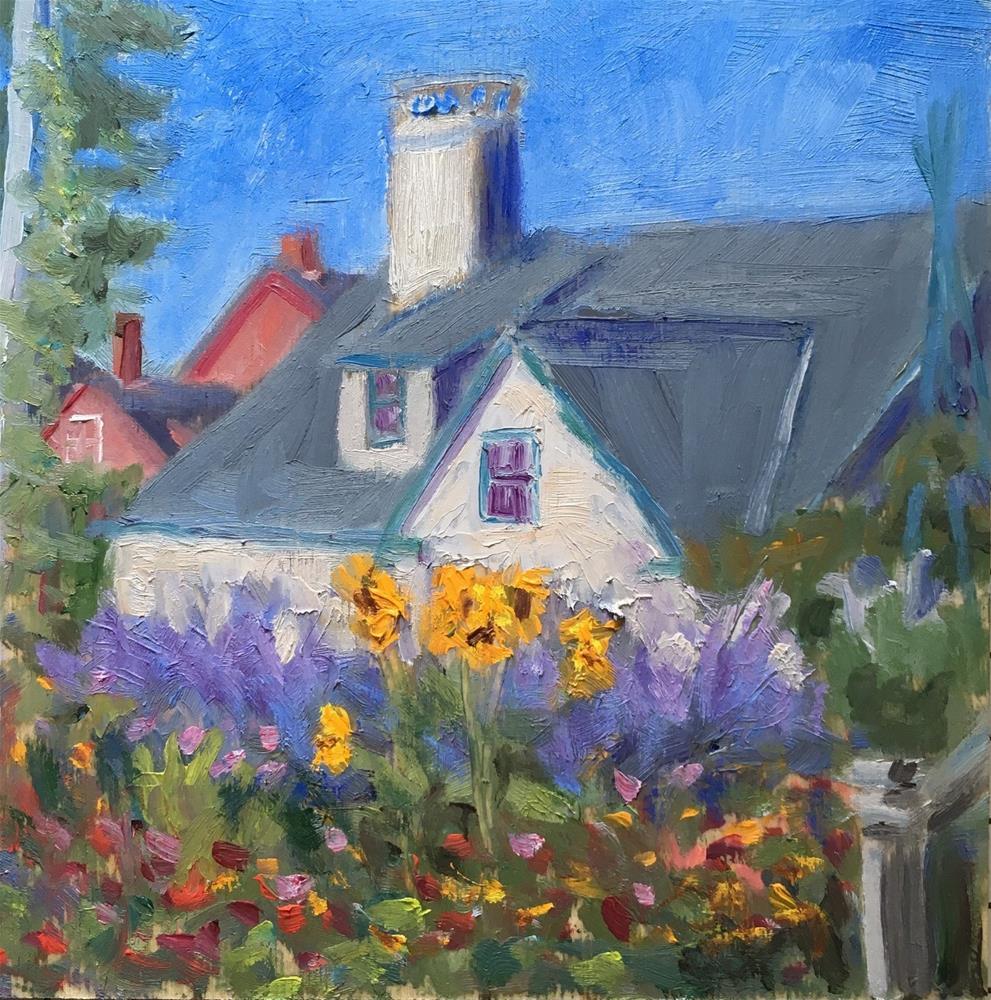 """""""Island Cottage Garden"""" original fine art by Shari Goddard Shambaugh"""