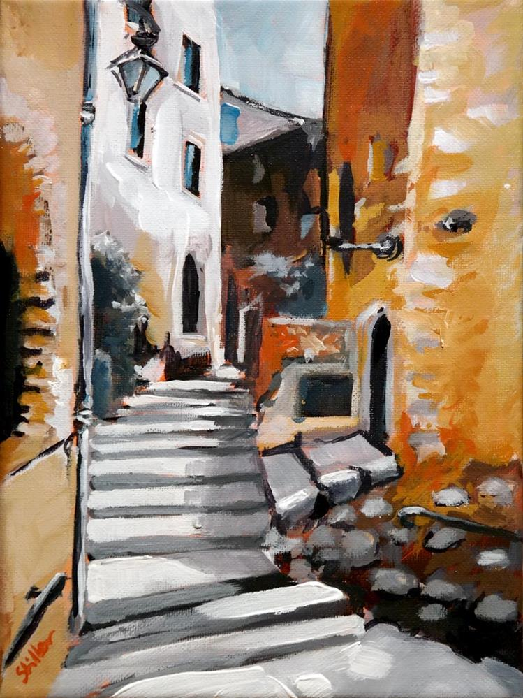 """1608 Saint Paul de Vence"" original fine art by Dietmar Stiller"