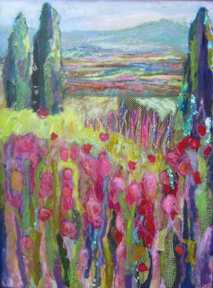 """The Valley Below Saignan I"" original fine art by Patricia MacDonald"
