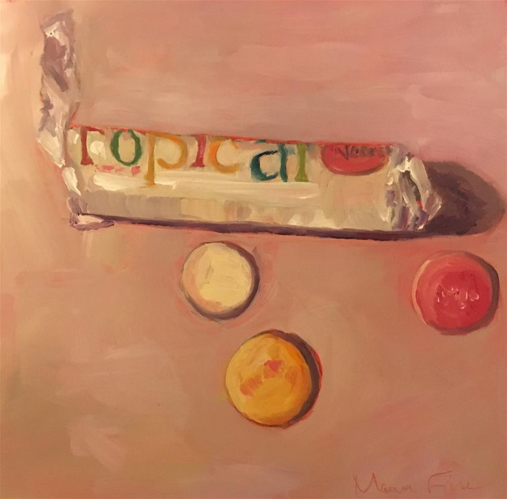 """""""Tropical Necco Wafers"""" original fine art by maura fine"""