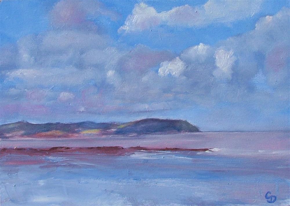"""""""Coastal Clouds"""" original fine art by Christine Derrick"""