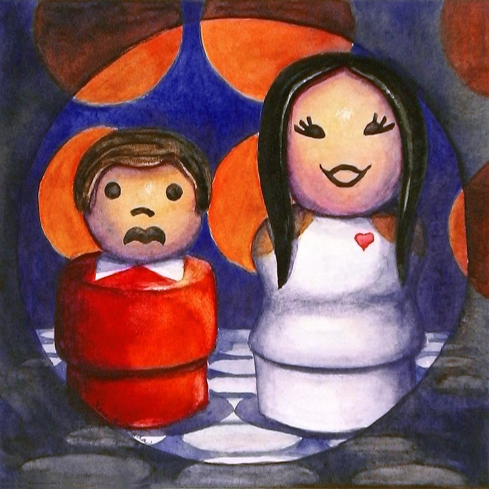 """""""I Got You Babe"""" original fine art by Kara K. Bigda"""