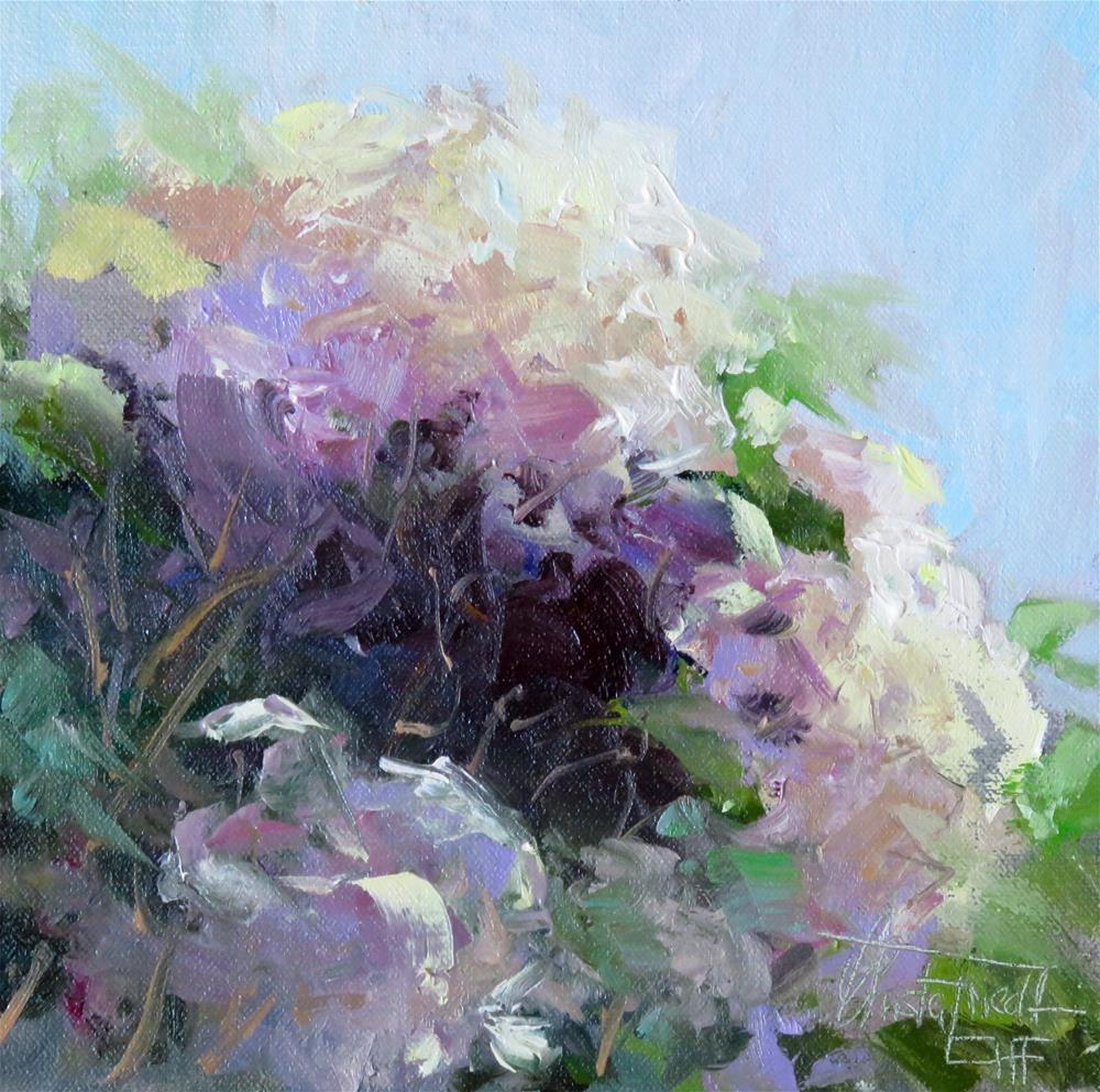 """Hydrangeas"" original fine art by Christa Friedl"