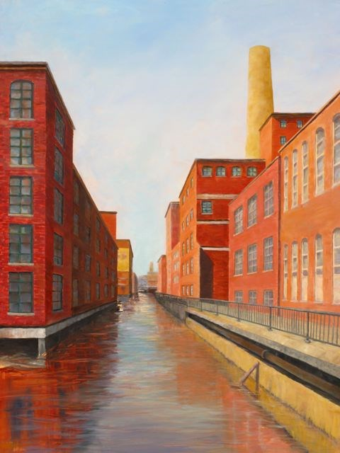"""Urban Canyons"" original fine art by Linda Demers"