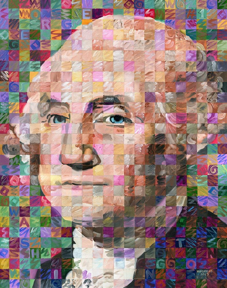 """George Washington"" original fine art by Randal Huiskens"