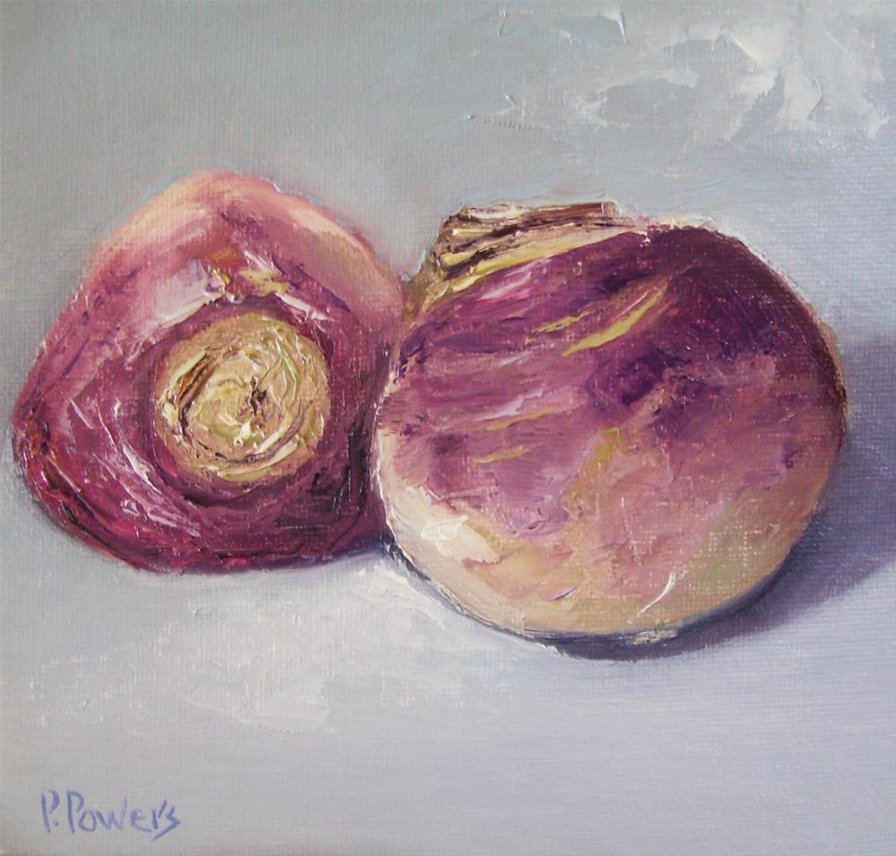 """Purple Top Turnips"" original fine art by Patricia J. Powers"