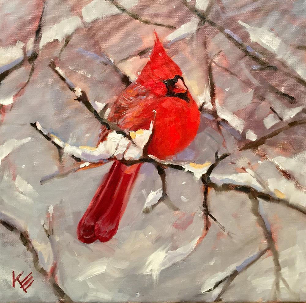 """""""Winters Friend"""" original fine art by Krista Eaton"""