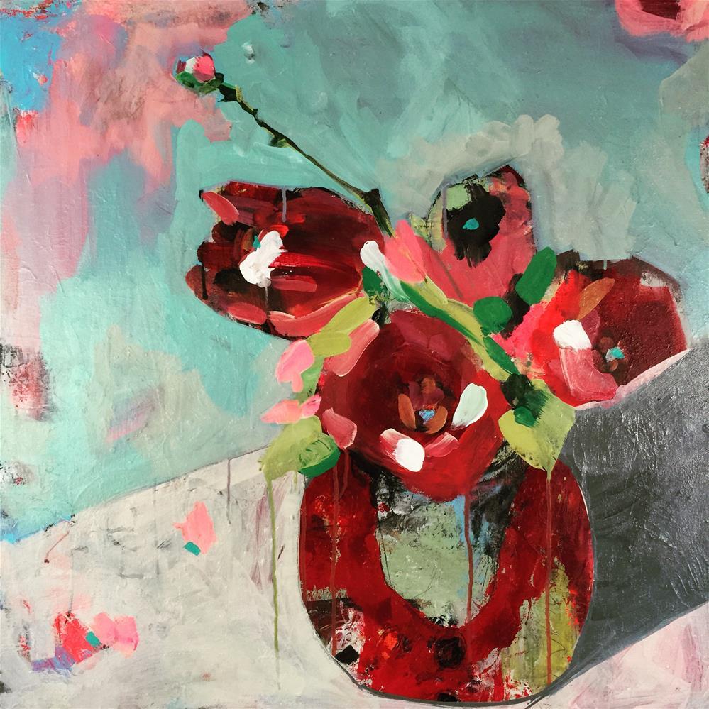 """""""Tulips in Jar"""" original fine art by Jenny Doh"""