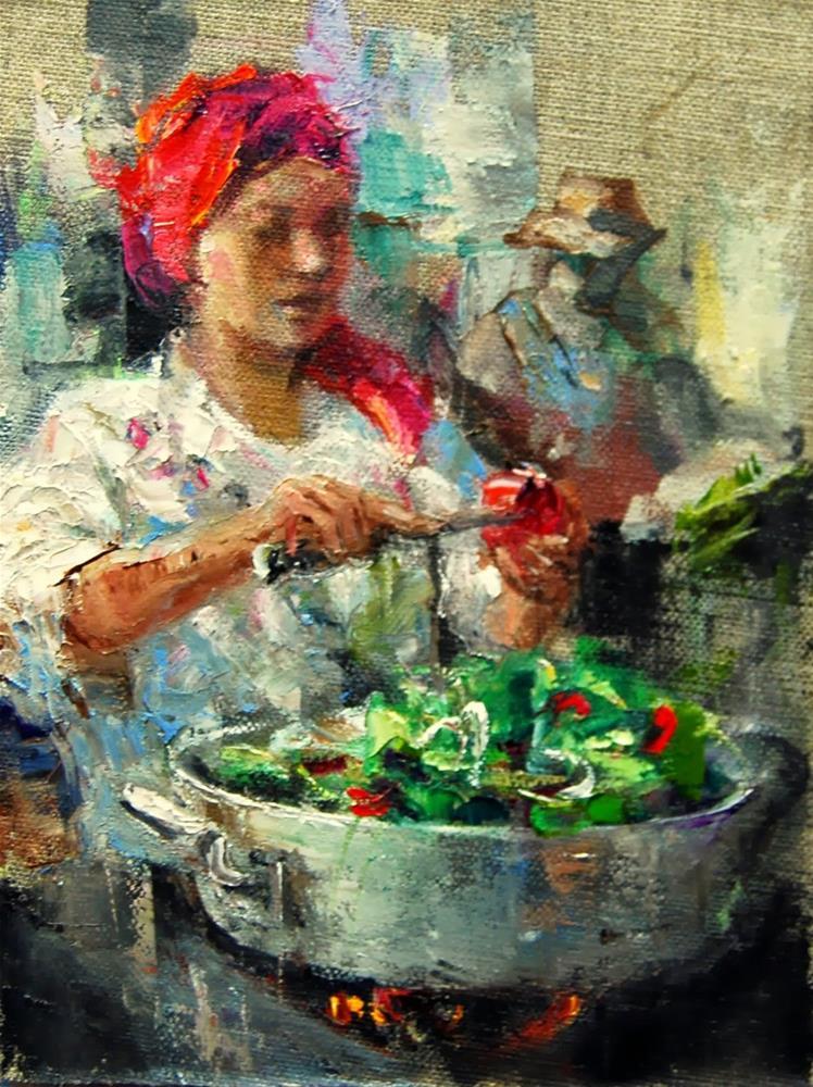 """""""Farmers Market # 24"""" original fine art by Julie Ford Oliver"""
