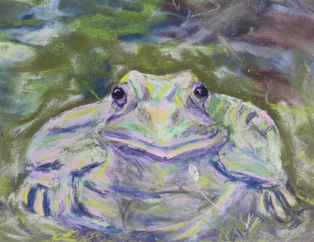 """Toad"" original fine art by Phyllisha Hamrick"