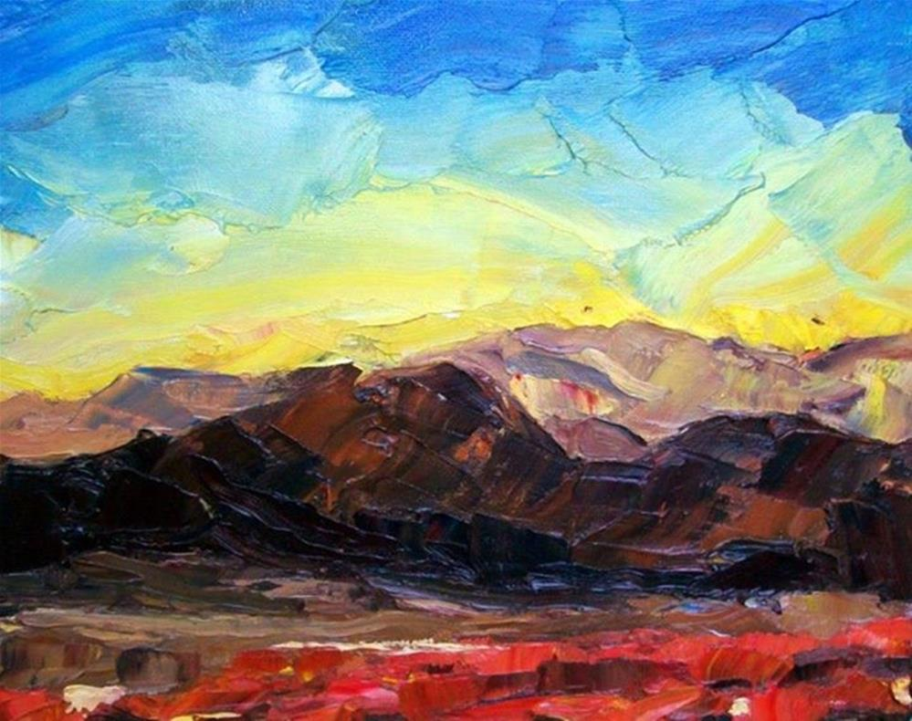 """New Mexico Sunrise"" original fine art by Nava Judith"