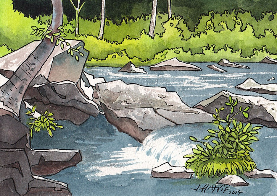 """Tellico River View"" original fine art by Jeff Atnip"
