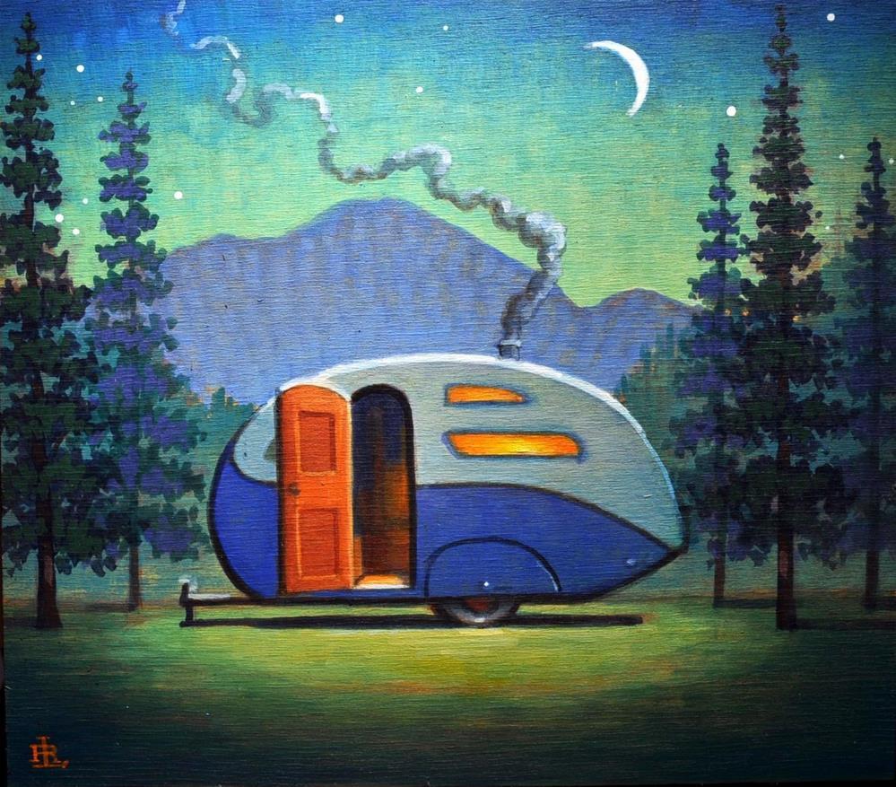 """Campsite"" original fine art by Robert LaDuke"