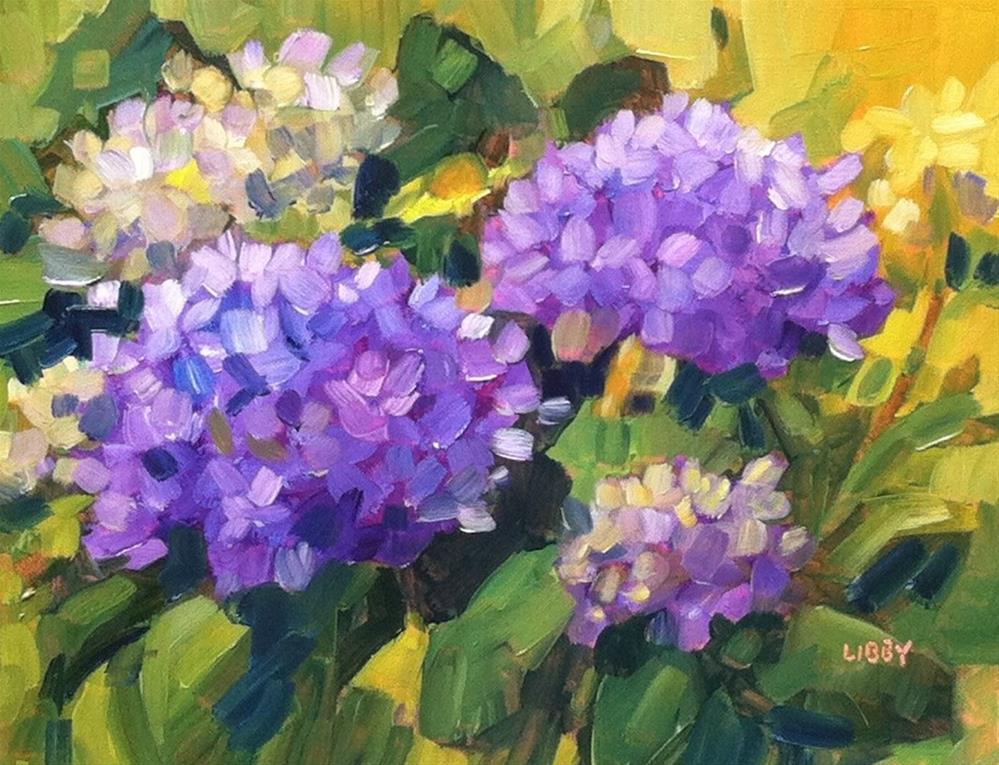 """Purple Garden"" original fine art by Libby Anderson"