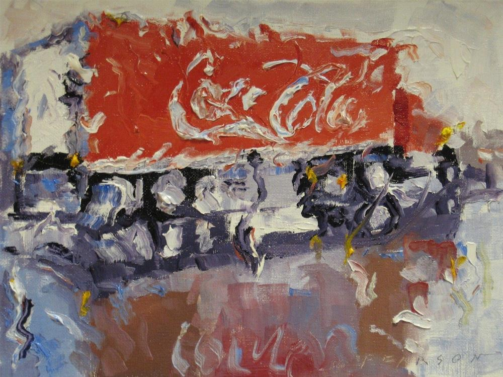 """Rain Coke"" original fine art by Dennis Pearson"