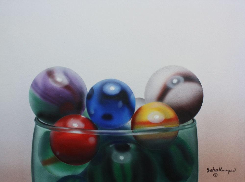 """""""Marbles # 12"""" original fine art by Fred Schollmeyer"""