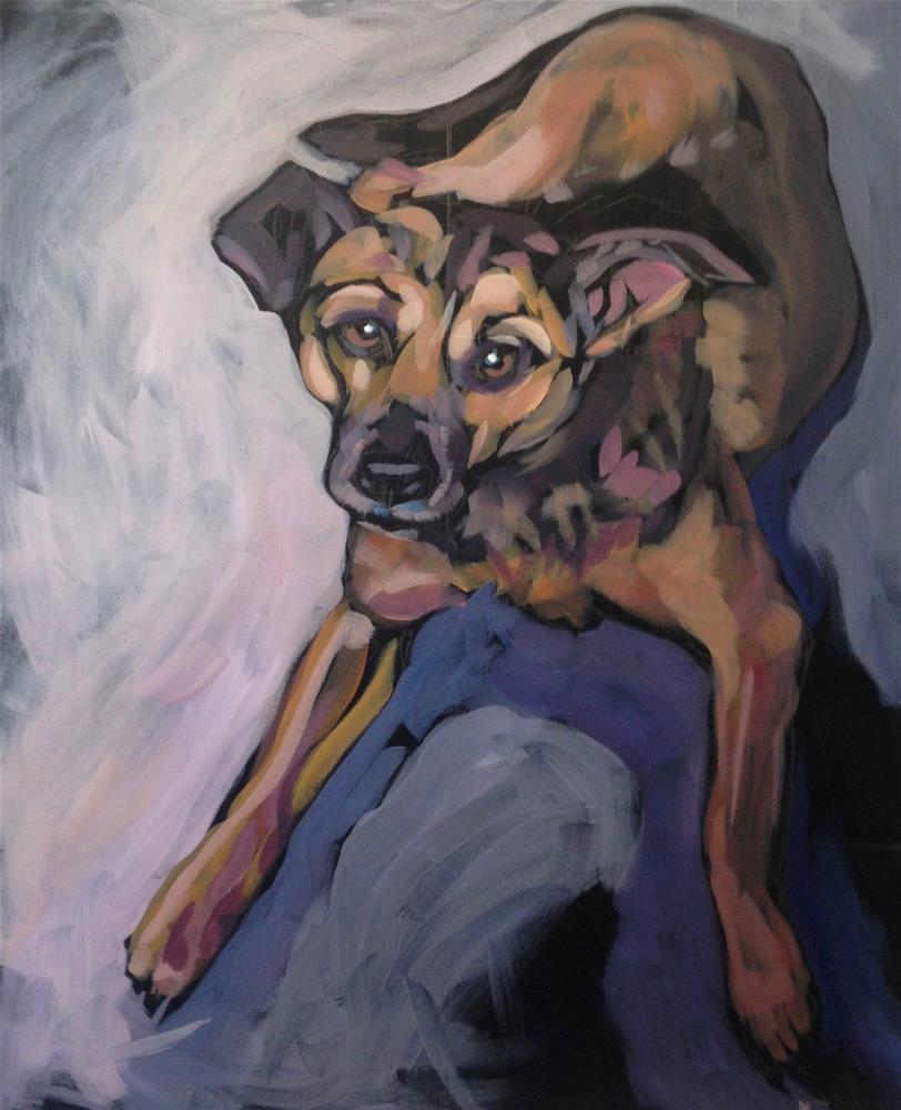 """Sprawled At Your Feet"" original fine art by Kat Corrigan"