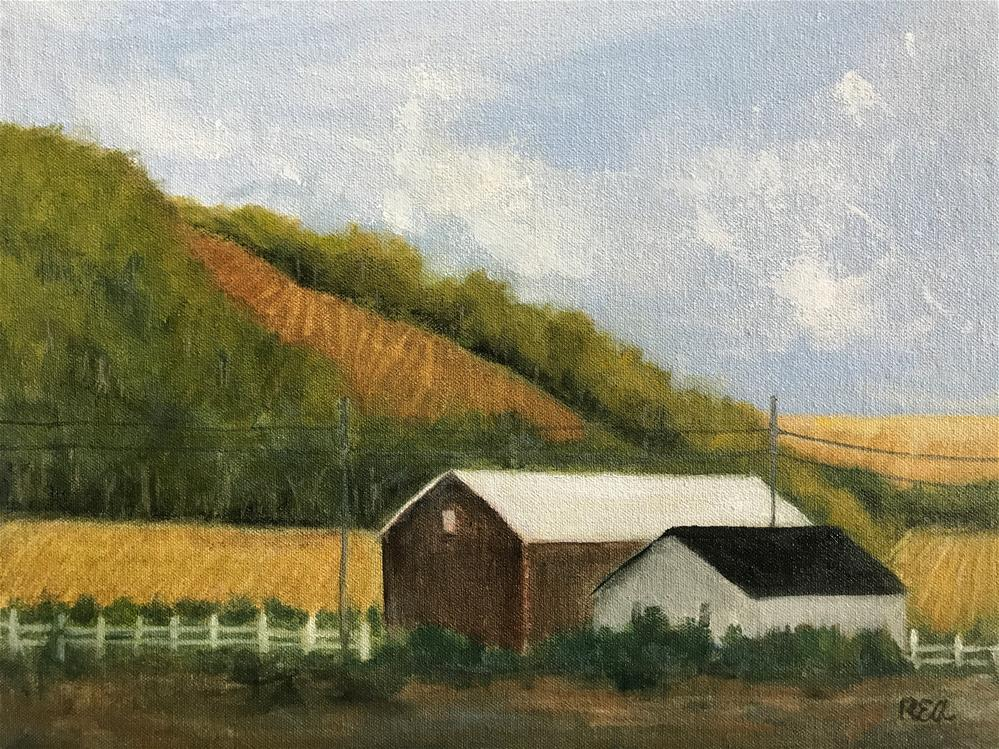 """""""lots of crops in the fields"""" original fine art by Betty Argiros"""