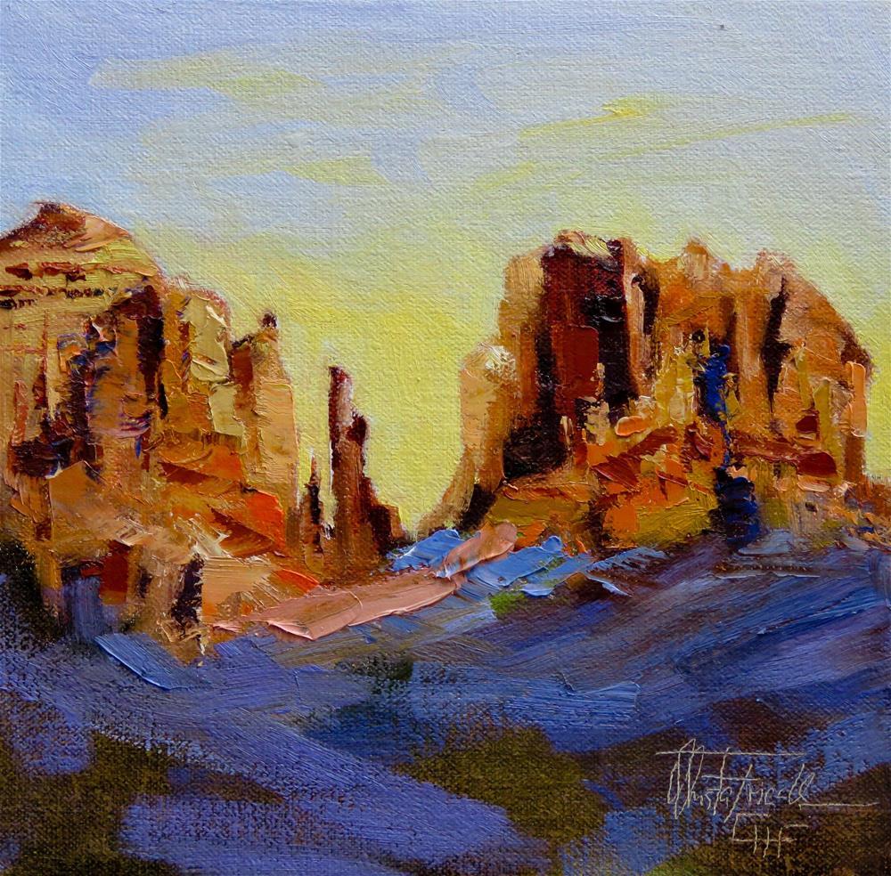 """Sedona Rocks"" original fine art by Christa Friedl"