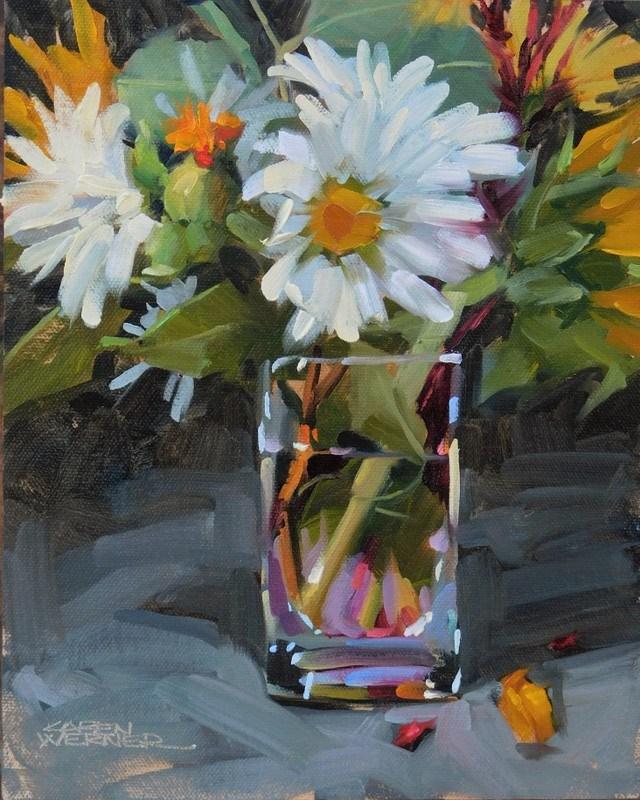 """""""Thankful"""" original fine art by Karen Werner"""
