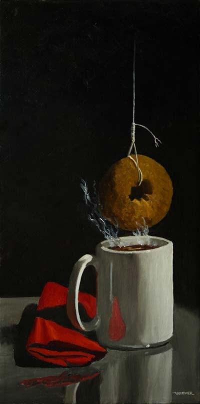 """The Martyrdom of St. Dunkin'"" original fine art by Kirk Witmer"