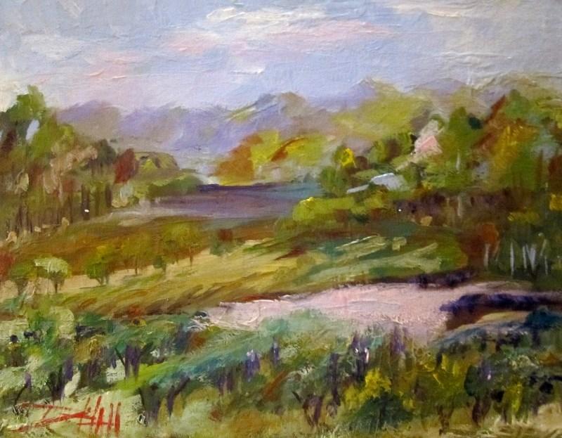 """Pinot Noir"" original fine art by Delilah Smith"