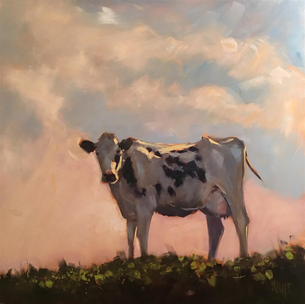"""#408 This Charming Cow"" original fine art by Patty Voje"