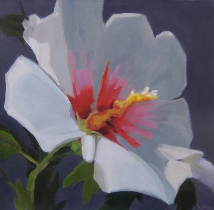 """Large White Rose of Sharon"" original fine art by Robin Rosenthal"