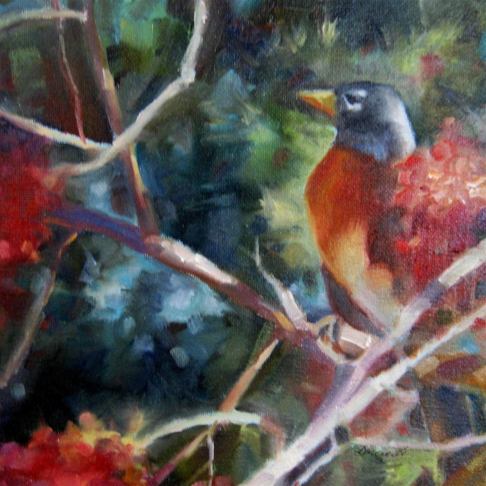 """""""Early Bird"""" original fine art by Scarlet Owl Studio"""