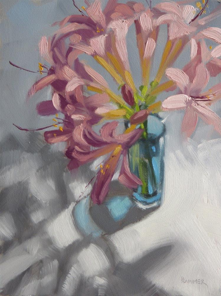 """""""Sneaky Ladies  8 x 6  oil"""" original fine art by Claudia Hammer"""